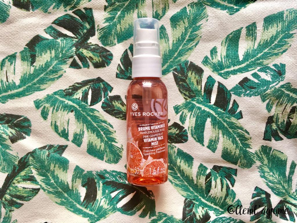 Produit d'été : brume vitaminée pamplemousse yves rocher