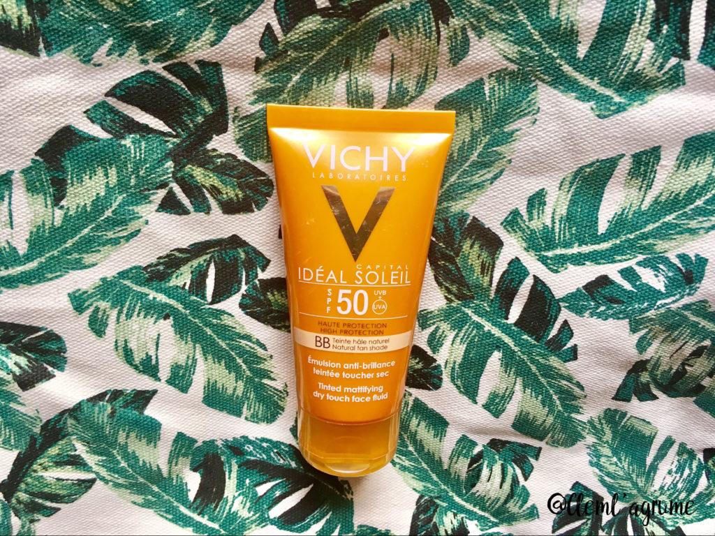 Produit d'été : crème vichy idéal soleil 50 spf